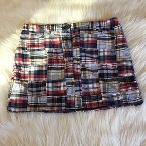 Ann Taylor Loft Mini Madras Plaid Skirt